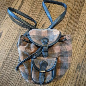 Vintage Kenneth Cole Leather Suede Mini Backpack